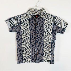 Quicksilver Toddler Boys Button Down Shirt Size 3T